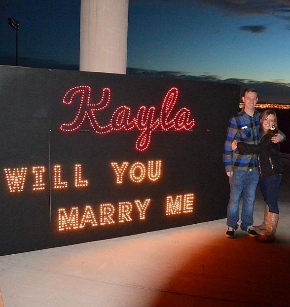 Christmas Lights Inspired Proposal: Marriage Proposal At Glittering Lights On Christmas Eve