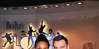 Marsha Thomason and Craig Sykes at The Beatles LOVE