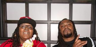 Marshawn Lynch at Moneyline Sports Bar & Book in Las Vegas