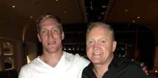 Matt Greene Dines at Crush Eat, Drink, Love inside MGM Grand in Las Vegas