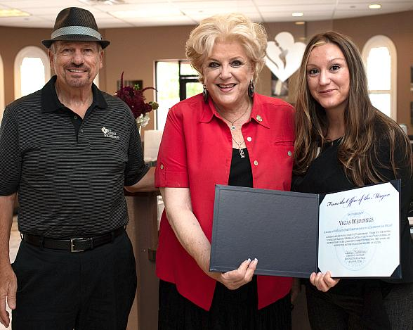 Vegas Weddings Welcomes Mayor Carolyn Goodman to Celebrate a Decade in Downtown Las Vegas