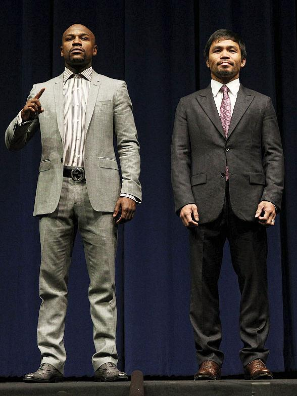Floyd Mayweather vs. Manny Pacquiao at MGM Grand Garden Arena in Las Vegas May 2