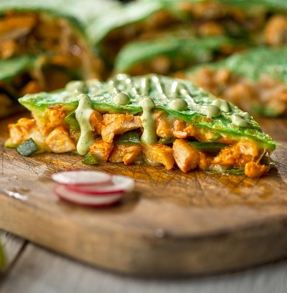 Celebrate St. Patrick's Day with Tacos & Tequila's Mean Green Quesadilla