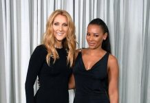 """America's Got Talent"" judge and singer Mel B visits Celine Dion at The Colosseum at Caesars Palace"