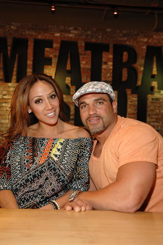 Melissa and Joe Gorga inside Meatball Spot