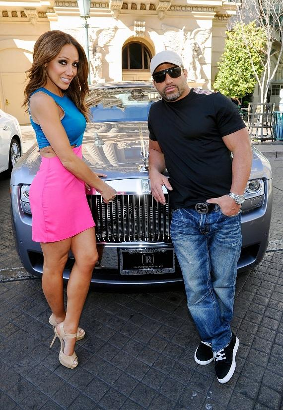 Melissa Gorga in backseat of Rolls-Royce Ghost from Towbin Motorcars