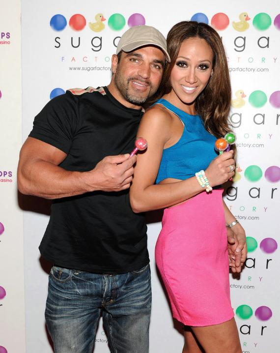 Melissa Gorga with a Chocolate Cookie Jar Milkshake inside Sugar Factory