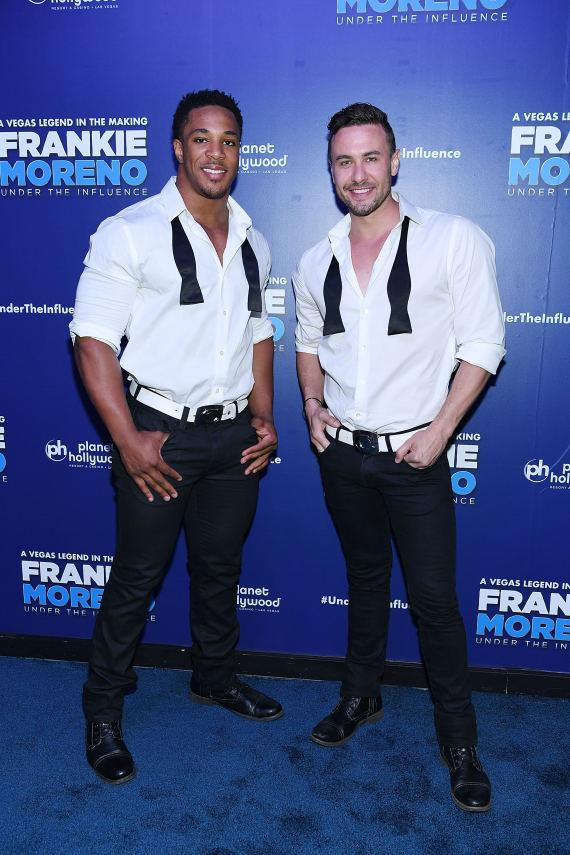 Members of CHIPPENDALES at Opening Night of FRANKIE MORENO - UNDER THE INFLUENCE at Planet Hollywood Resort & Casino