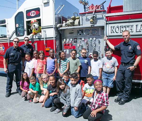 Sparky The Fire Dog hosts Fire Safety Assembly at Boys & Girls Clubs of Las Vegas