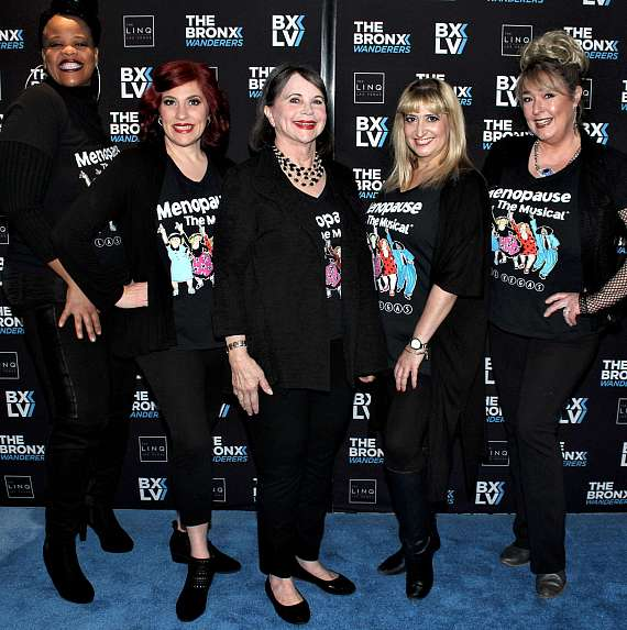 Menopause the Musical cast at Bronx Wanderers Grand Opening