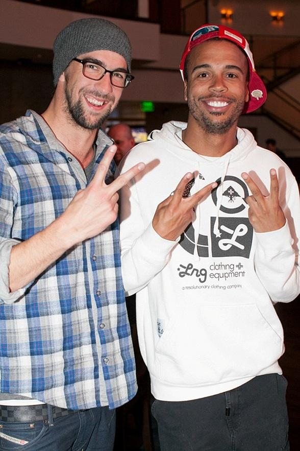 Michael Phelps and friend at Heraea