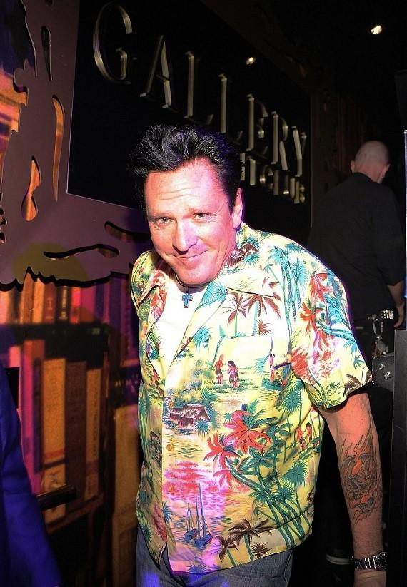 Michael Madsen greets the crowd at Gallery Nightclub