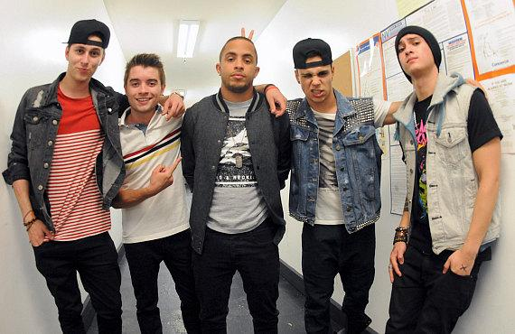 Midnight Red backstage at Krave Nightclub in Las Vegas
