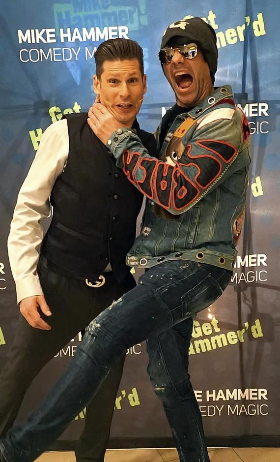 """Mike Hammer and Criss Angel at """"The Mike Hammer Comedy & Magic Show"""""""
