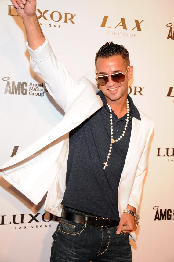 """Mike """"The Situation"""" Sorrentino of Jersey Shore on red carpet at LAX Nightclub"""