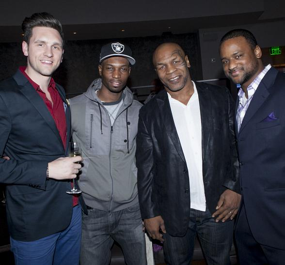 Mike Tyson with friends at HERAEA at Palms Casino Resort