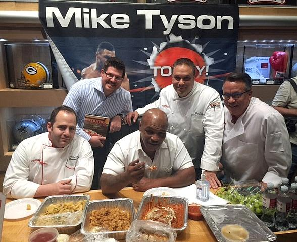 Mike Tyson Fuels Up on Carmine's