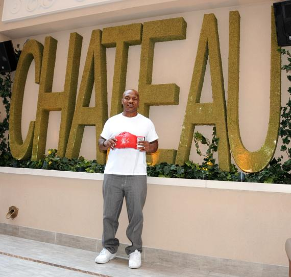Mike Tyson at Chateau Nightclub Terrace in Las Vegas