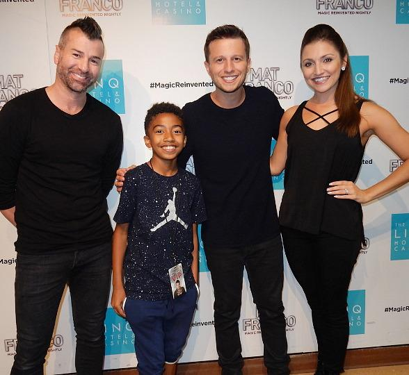 """Miles """"Baby Boogaloo"""" Brown Attends 'Mat Franco - Magic Reinvented Nightly' at the Linq Hotel & Casino Las Vegas"""