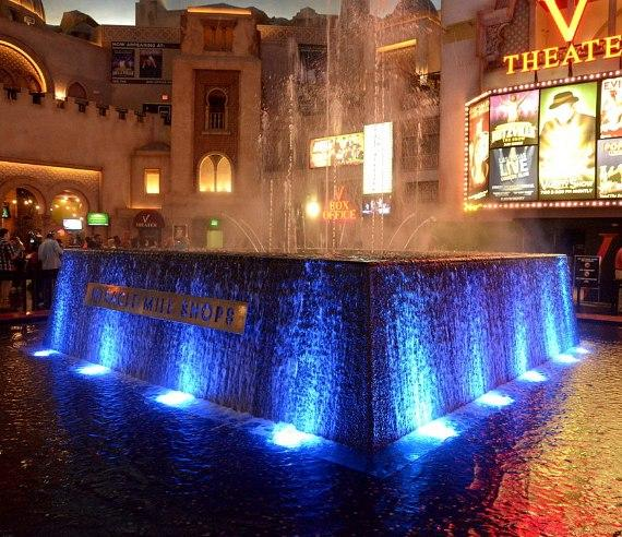 Miracle Mile Shops turned its fountain blue in November in honor of JDRF