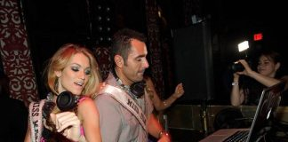 Miss Massachusetts Alida D'Angona with DJ Jason Lema