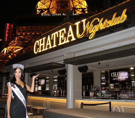Miss Nevada USA 2015 Brittany McGowan Parties at Chateau Nightclub & Rooftop