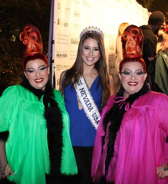 Miss Nevada USA Nia Sanchez and Zumanity by Cirque du Soleil at New York-New York's 5th Annual St. Baldricks' Day Event March 1, 2014-570