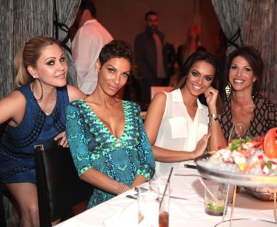 Shanna Moakler, Nicole Murphy, Jade Kelsall and Gretchen Polhemus are all smiles while celebrating the 2014 Miss Nevada USA Pageant at N9NE Steakhouse inside Palms Casino Resort