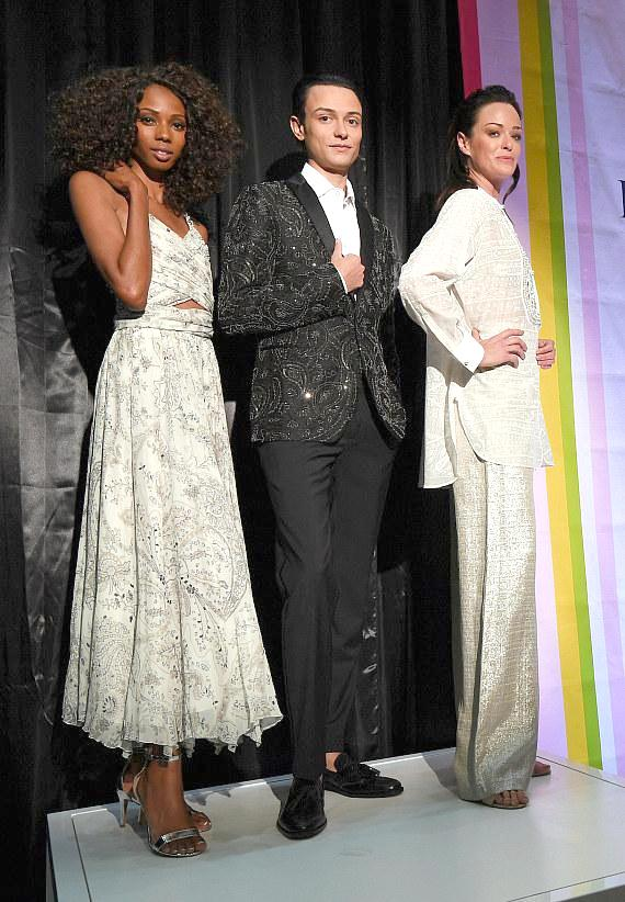Models wearing fashions by Etro, presented by Neiman Marcus
