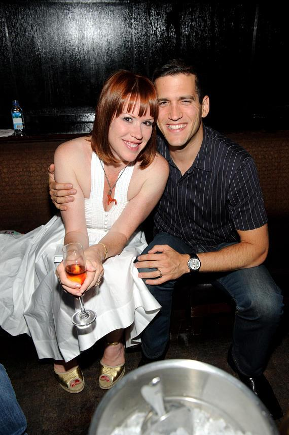 Molly Ringwald and Panio Gianopoulos at LAVO