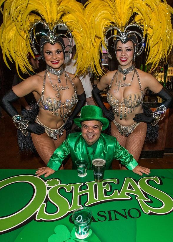 The Jubilee! Showgirls and Mr. Lucky celebrate after the beer pong match