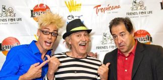 Murray SawChuck, comedian Gallagher and Harry Basil (part qwner/performer of Laugh Factory)