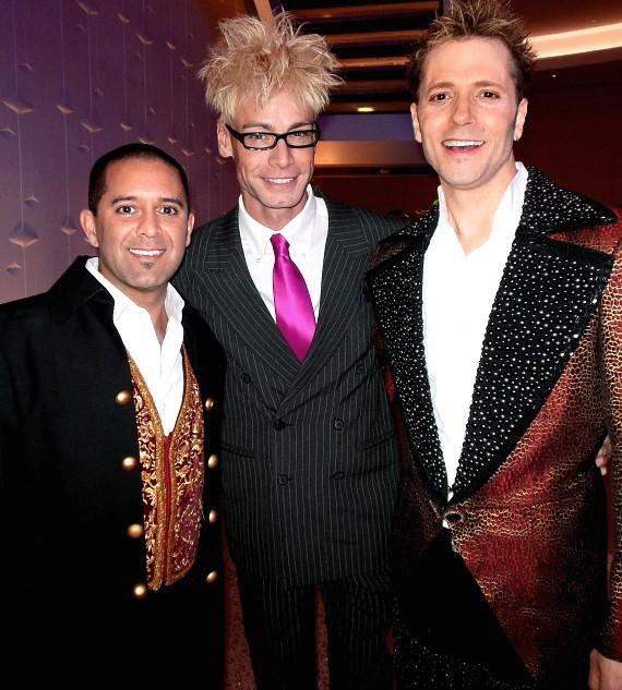 Raja, Murray and Jarrett backstage at America's Got Talent Live at The Palazzo