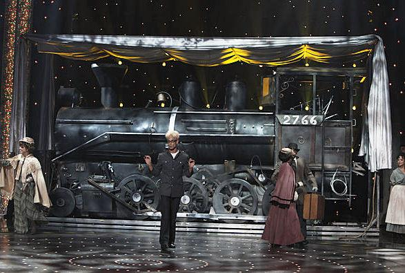 Murray SawChuck's performances on America's Got Talent included the disappearance of a real steam train!