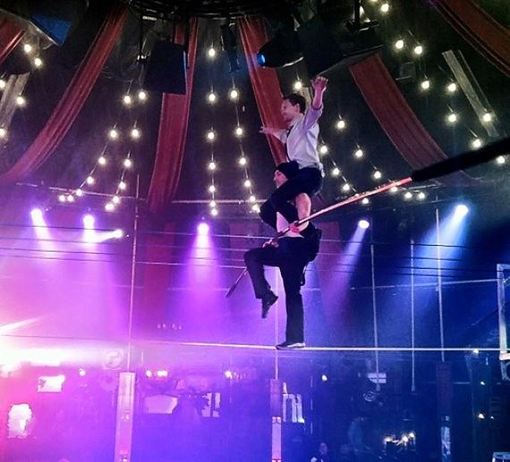 Neil Patrick Harris on the high wire