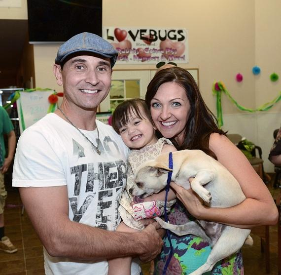 Jersey Boys star Travis Cloer and family at NSPCA's BIG GIVE