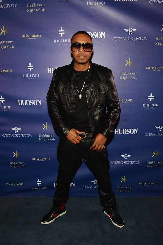 Nas on Blue Carpet at Hakkasan Las Vegas