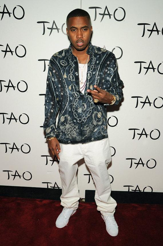 Nas on red carpet at TAO in Las Vegas