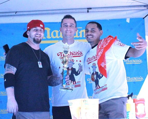 Nathan's Famous Hot Dog Eating Contest 2017 - MGM Employee Champions