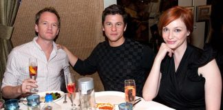 Neil Patrick Harris, David Burkta and Christina Hendricks