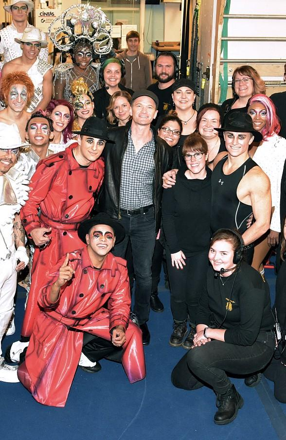 """Colin Farrell and Neil Patrick Harris at """"Michael Jackson ONE"""" by Cirque du Soleil"""