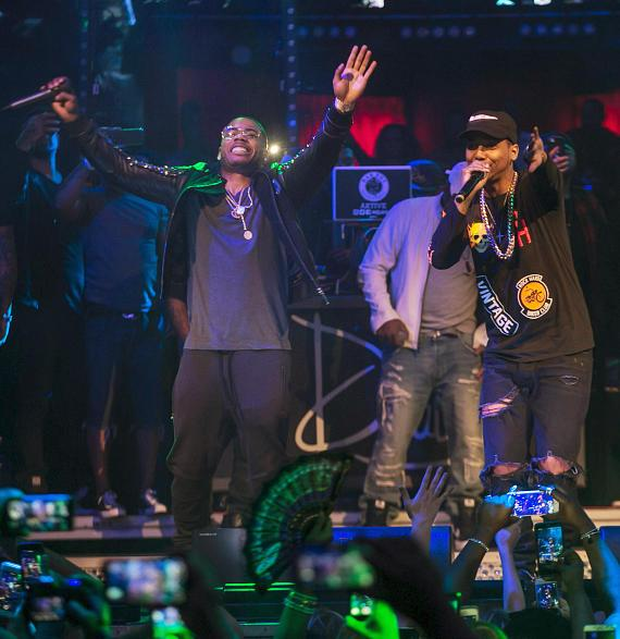 Nelly and Juelz Santana at Drais Nightclub Las Vegas