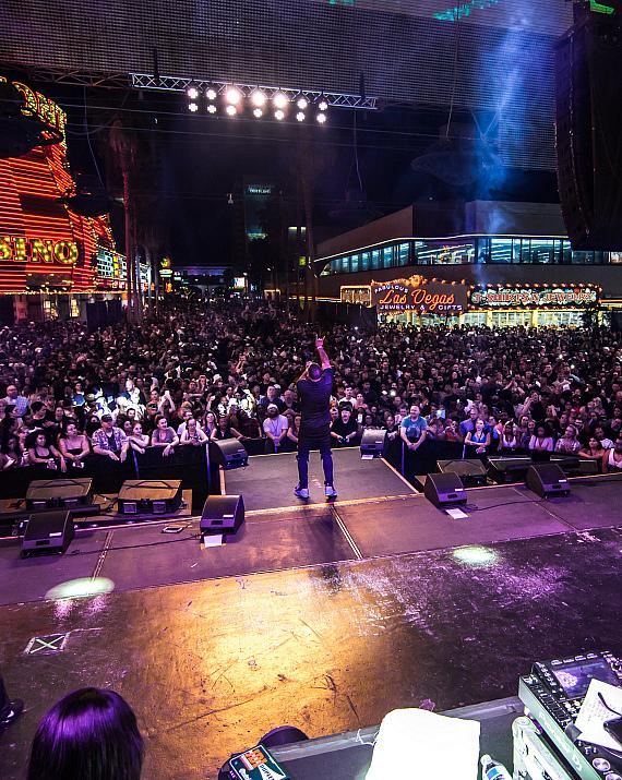 Nelly pumps up the crowd with unforgettable performance during Downtown Rocks at Fremont Street Experience