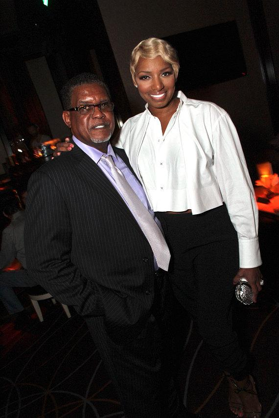 """Real Housewives of Atlanta"" star NeNe Leakes with husband Gregg at Lily Bar & Lounge at Bellagio Las Vegas"