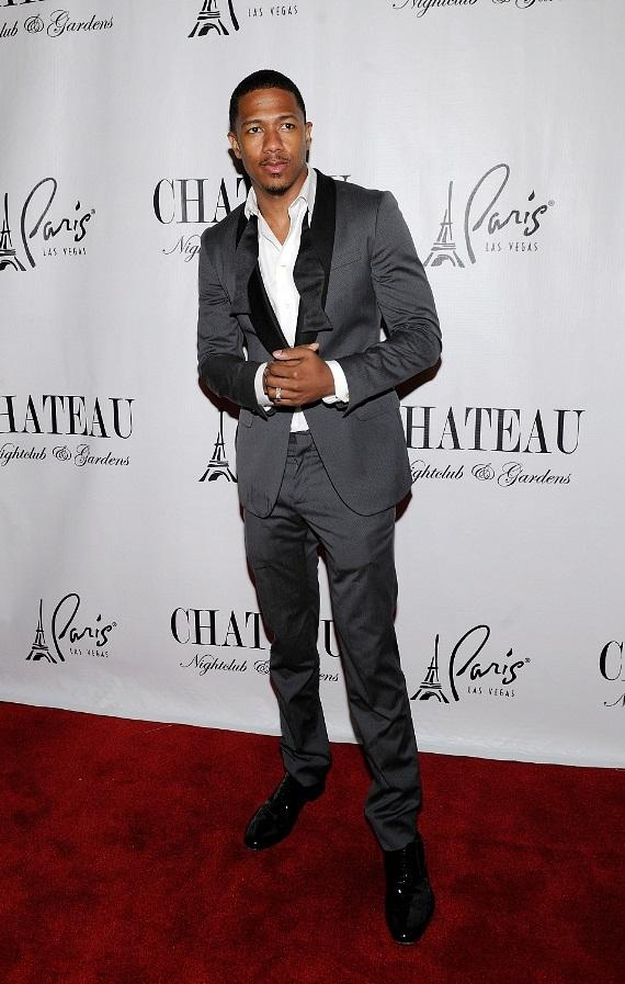 Nick Cannon poses inside the DJ Booth at Chateau Nightclub & Gardens