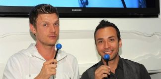 Nick Carter and Howie Dorough with Couture Pops at Sugar Factory at Paris Las Vegas