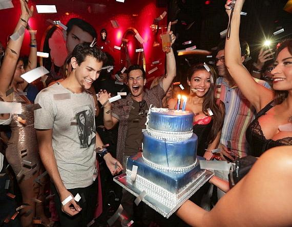 Nick Hissom gets cake at Tryst