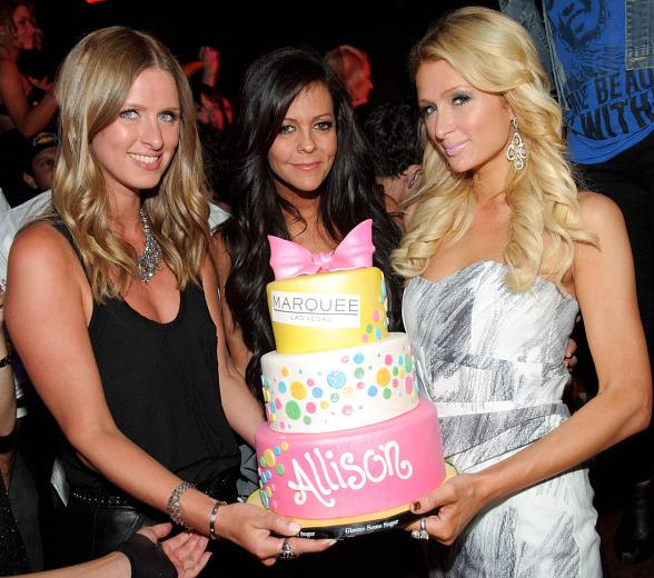 Allison Melnick, Paris Hilton and Jennifer Rover