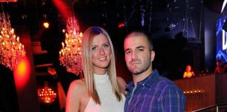 Nicky Hilton and David Katzenberg at Chateau Nightclub & Gardens at Paris Las Vegas