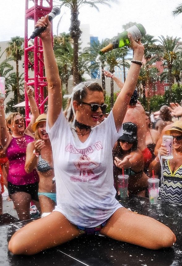 Internet Superstar Nicole Arbour Celebrates 300 Million Views by Hosting Biggest Champagne Shower at GO Pool at Flamingo Las Vegas